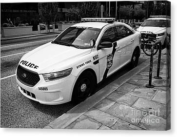 Philadelphia Police Narcotics Strike Force Police Cruiser Vehicle Usa Canvas Print