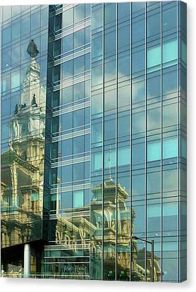 La Jolla Art Canvas Print - Philadelphia Reflections by Russ Harris