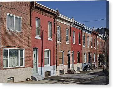 Philadelphia Row Houses Canvas Print by Brendan Reals