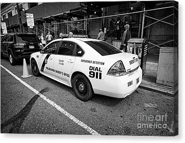 Philadelphia Sheriffs Office Chevy Impala Police Cruiser K-9 Unit Explosives Detection Vehicle Usa Canvas Print