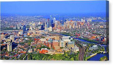 Philadelphia Skyline 3400 Civic Center Blvd Canvas Print by Duncan Pearson