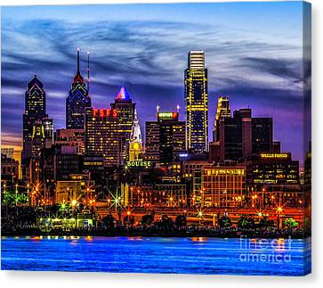 Canvas Print featuring the photograph Philadelphia Skyline by Nick Zelinsky