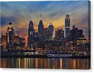 Philadelphia Canvas Print - Philadelphia Skyline by Susan Candelario