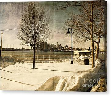 Philadelphia Snowscape Canvas Print by Milton Brugada
