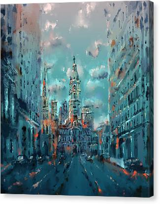 Philadelphia Street Canvas Print by Bekim Art