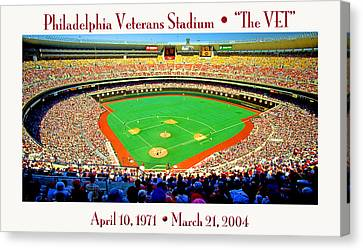 Philadelphia Veterans Stadium The Vet Canvas Print