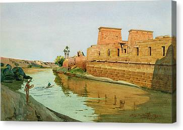 Philae On The Nile Canvas Print by Alexander West