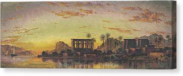 Philae The Beautiful Canvas Print by Edward William Cooke