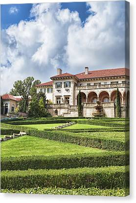 Philbrook Museum Tulsa Oklahoma Photograph  Canvas Print by Ann Powell