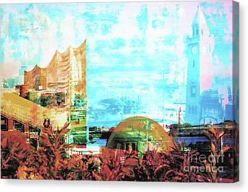 Ports Canvas Print - Phili And Landungsbruecken by Nica Art Studio