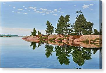 Canvas Print featuring the painting Philip Edward Island by Kenneth M Kirsch