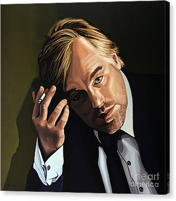 Philip Seymour Hoffman Canvas Print by Paul Meijering