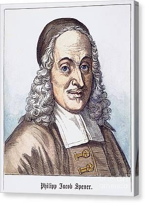 Philipp J. Spener (1635-1705) Canvas Print by Granger