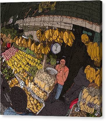 Philippines 3575 Saging Sales Lady Canvas Print by Rolf Bertram