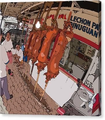Philippines 4057 Lechon Canvas Print by Rolf Bertram