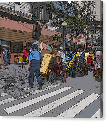 Philippines 906 Crosswalk Canvas Print by Rolf Bertram