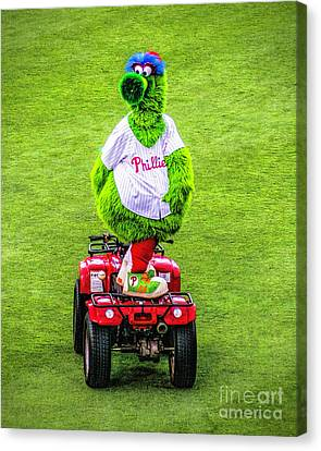Phillie Phanatic Scooter Canvas Print