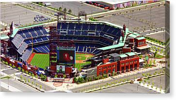 Phillies Citizens Bank Park Philadelphia Canvas Print by Duncan Pearson