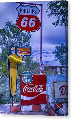 Hamburger Canvas Print - Phillips 66 Sign by Garry Gay