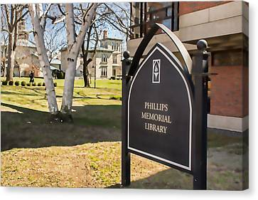 Phillips Memorial Library Providence College, Artistic Canvas Print