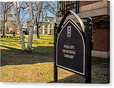 Phillips Memorial Library Providence College Canvas Print
