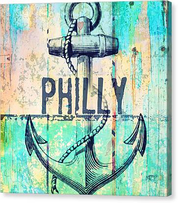 Philly Anchor 2 Canvas Print