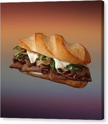 Philly Cheese Steak  Canvas Print by Movie Poster Prints