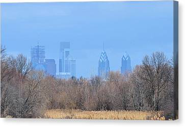 Philly From Afar Canvas Print by Kathy Eickenberg