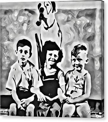 Philly Kids With Petey The Dog Canvas Print
