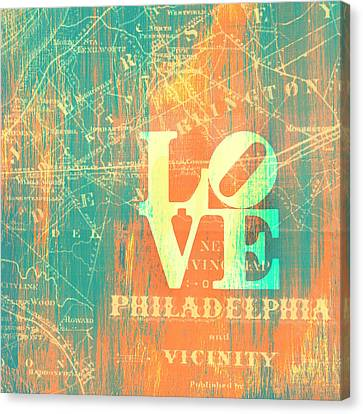 Philly Love V10 Canvas Print by Brandi Fitzgerald