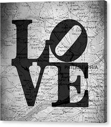 Philly Love V13 Canvas Print by Brandi Fitzgerald