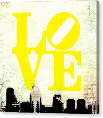Philly Love V14 Canvas Print by Brandi Fitzgerald