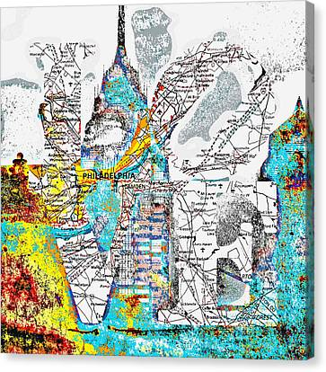 Philly Love V15 Canvas Print