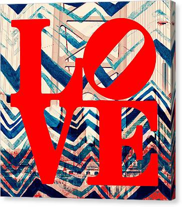 Philly Love V17 Canvas Print