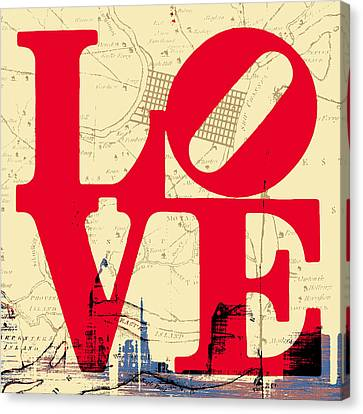 Philly Love V3 Canvas Print by Brandi Fitzgerald