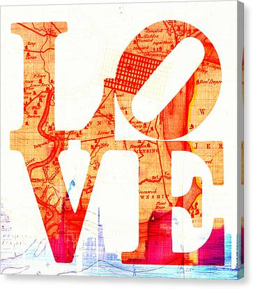Philly Love V4 Canvas Print by Brandi Fitzgerald
