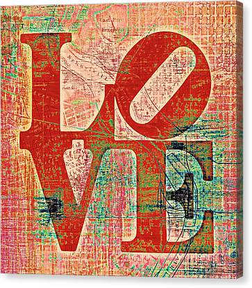 Philly Love V7 Canvas Print by Brandi Fitzgerald