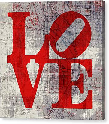 Philly Love V8 Canvas Print by Brandi Fitzgerald