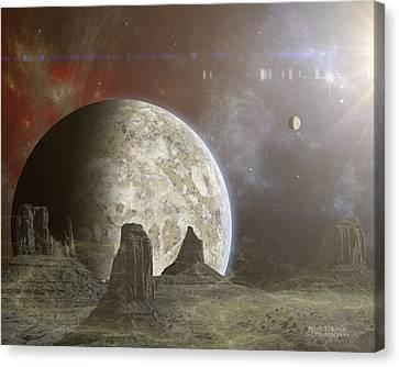 Phobos Canvas Print by Mark Allen