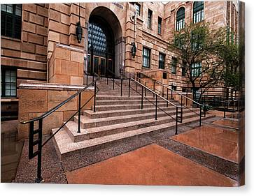 Canvas Print featuring the photograph Phoenix Arizona Courthouse by Dave Dilli