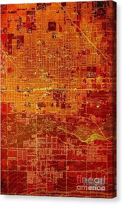 Igers Canvas Print - Phoenix Arizona Red Map by Pablo Franchi