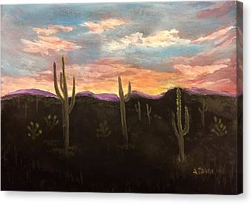 Phoenix Az Sunset Canvas Print