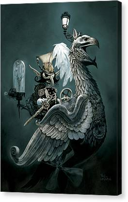 Books Canvas Print - Phoenix Goblineer by Paul Davidson