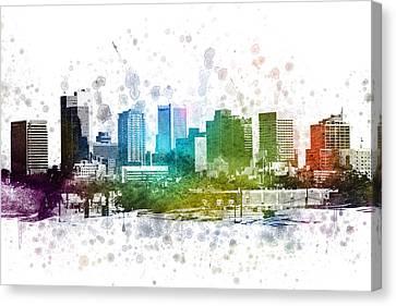 Phoenix Arizona In Color 02 Canvas Print