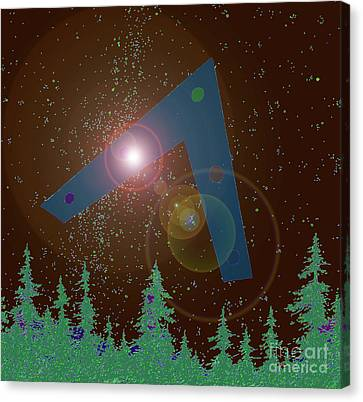 Canvas Print featuring the painting Phoenix Lights Ufo by James Williamson