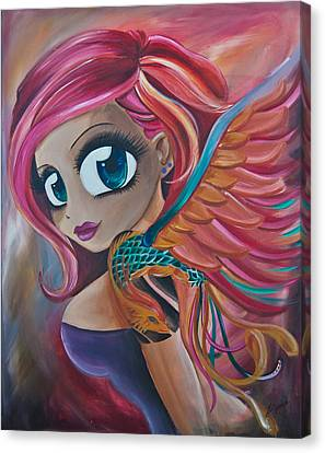 Phoenix Reborn Canvas Print by Zara  Spence