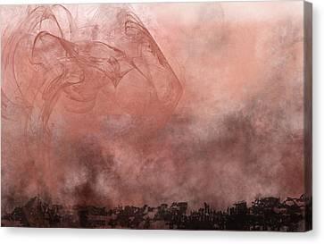 Phoenix Rising Canvas Print by Christopher Gaston