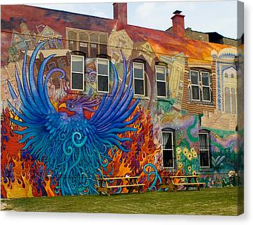 Phoenix Rising Canvas Print by Peter Skiba