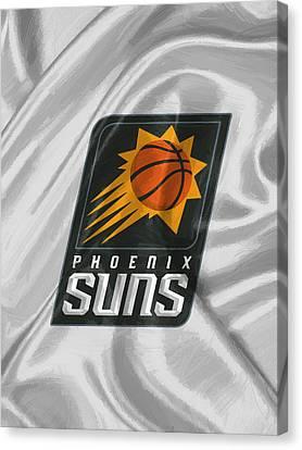 Dunk Canvas Print - Phoenix Suns by Afterdarkness