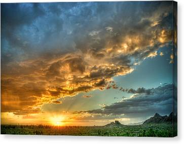Phoenix Sunset Canvas Print